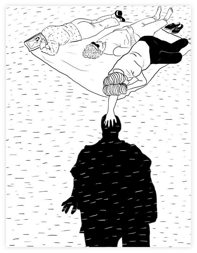 Иллюстрация французской художницы Хлои Бургиньон